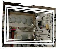 """Зеркало со светодиодной подсветкой """"Классика"""" три полосы 610х880 мм"""