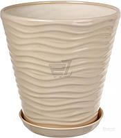 Горшок Оріана-Запоріжкераміка Новая волна глянец 33x33 см 13.5л (066-1-008) бежевый