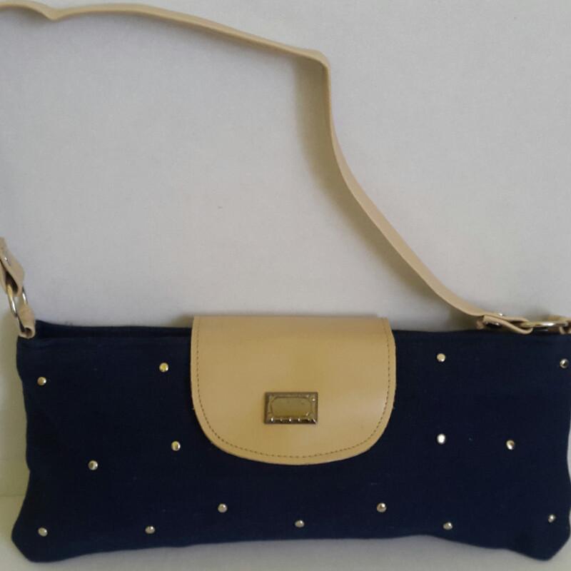 Женский джинсовый клатч темно-синего цвета 13х29 см