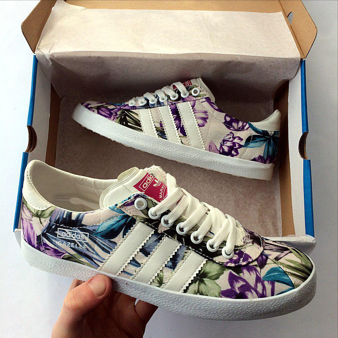 Женские кеды Adidas Gazelle Violet топ реплика