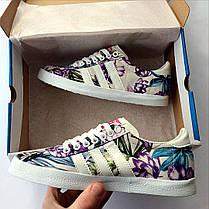 Женские кеды Adidas Gazelle Violet топ реплика, фото 2