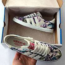 Женские кеды Adidas Gazelle Violet топ реплика, фото 3