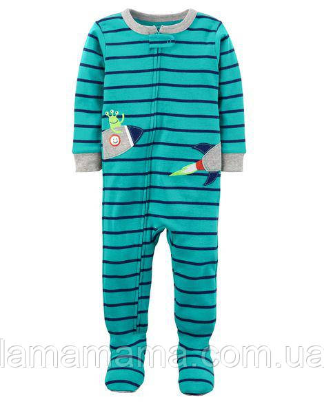 Хлопковая пижама слип Ракета Картерс 1-Piece Neon Rocket Snug Fit Cotton PJs 2Т (88-93 см; 13-14 кг)