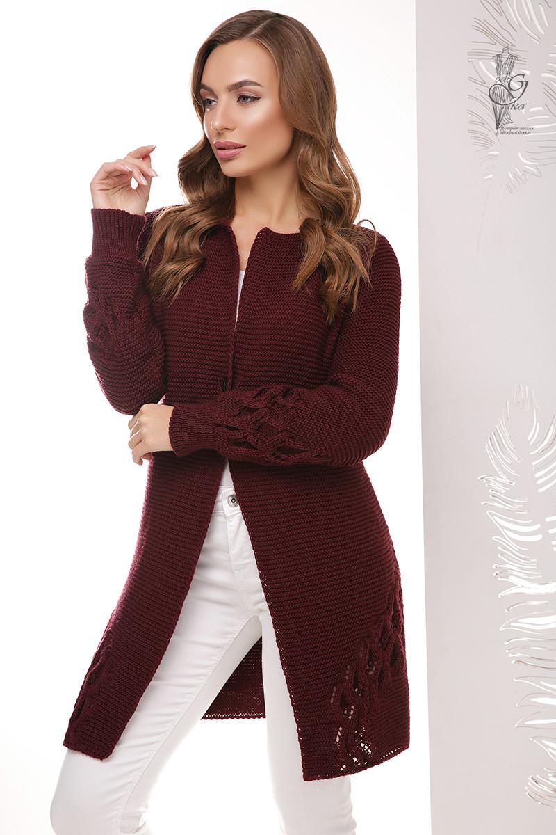Красивая женская кофта кардиган Чарис на пуговке с длинным рукавом