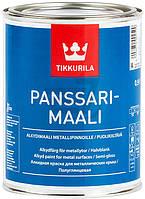 Краска алкидная Panssarimaali база А TIKKURILA белый полуглянец 0,9л