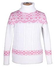 """Теплый, шерстяной свитер """"Дина"""", цвет белый,, фото 2"""