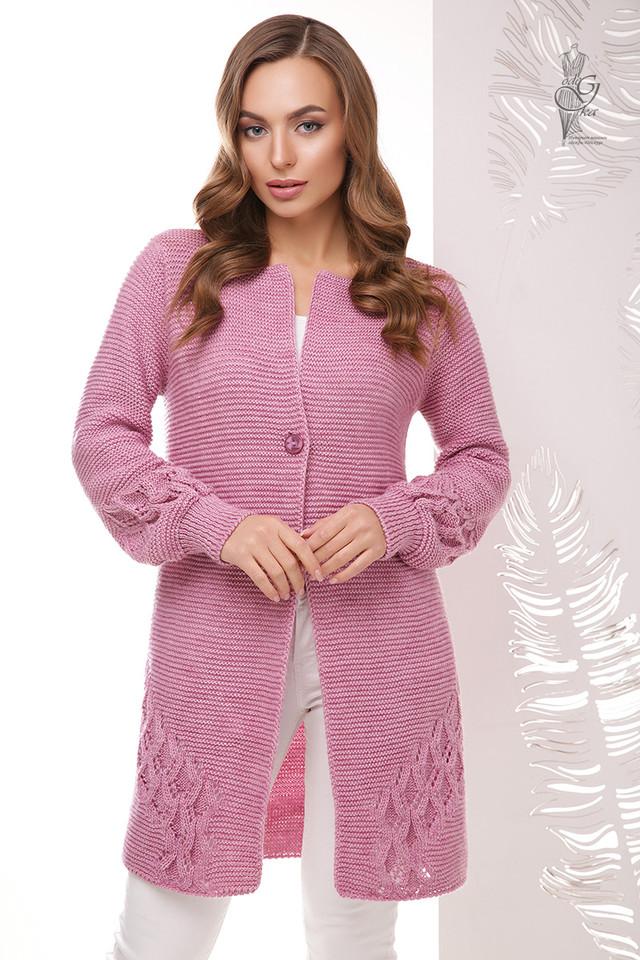 Сиреневый цвет Красивой женской кофты кардигана Чарис
