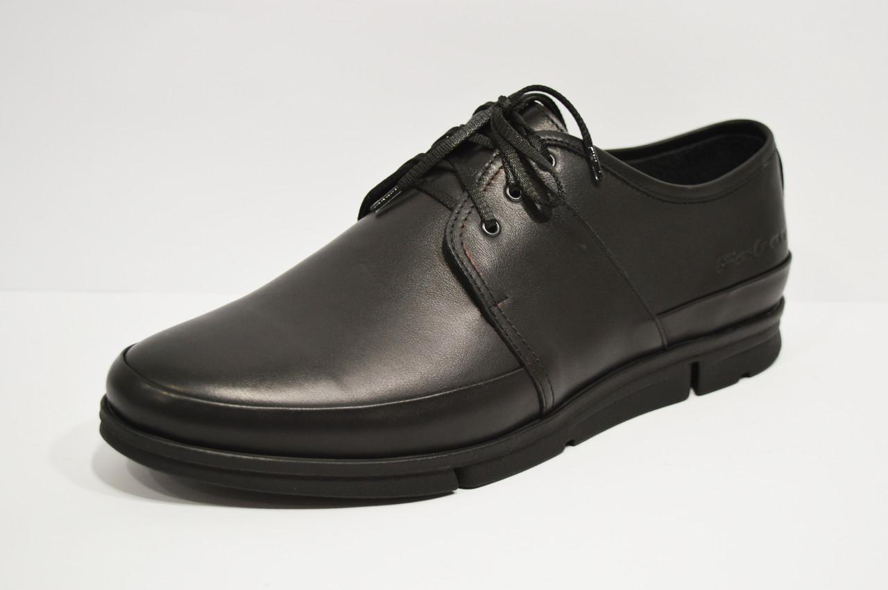 Туфли кожаные черные 122401