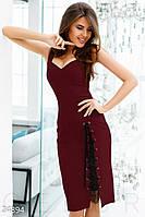 Соблазнительное платье шнуровка. Цвет марсала