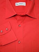 Мужская рубашка ярко красного цвета в классическом стиле