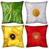 Декоративные подушки — цветочная коллекция (57 шт. )