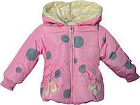 """Куртка детская демисезонная """"Зайка"""" #2/2 для девочек. 1-2-3-4 года. Розовая. Оптом., фото 1"""