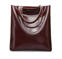 Женская кожаная сумка Grays темно коричневого цвета   GR2002B, фото 1