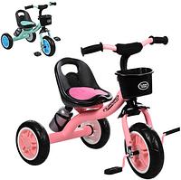 Трехколесный велосипед с корзинкой и бутылочкой M 3197-M-1 ***