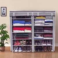 Тканевый шкаф для хранения вещей и обуви «4509»