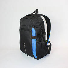 Городской рюкзак TAMIX MAD черный, синие вставки, фото 3