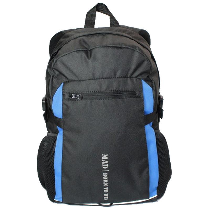 Городской рюкзак TAMIX MAD черный, синие вставки