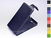 Откидной чехол из натуральной кожи для Sony Xperia XZ1 Compact