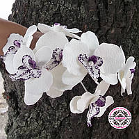 Украшение в свадебную прическу с цветком орхидеи