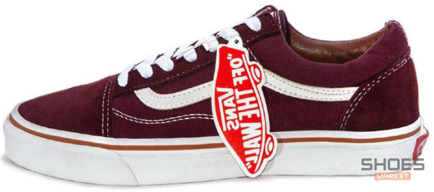 2ccf5965e705 Женские кеды Vans Old Skool Bordo - Bigl.ua