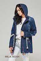 Куртка-жакет коттон джинс темно-синяя