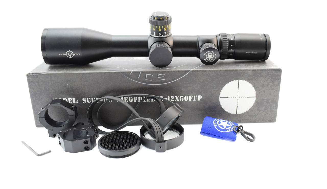 Оптический прицел Vector Optics Siegfried 3-12x50 FFP, 34 mm (SCFF-09)