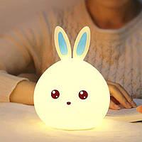 Детский 3D ночник Man rabbit из силикагеля без проводов Аккумулятор 1200маH Милый кролик сертификат качества
