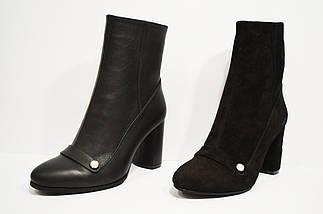 Ботинки замшевые черные Nivelle 8015, фото 3