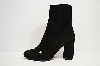 Ботинки замшевые черные Nivelle 8015, фото 2