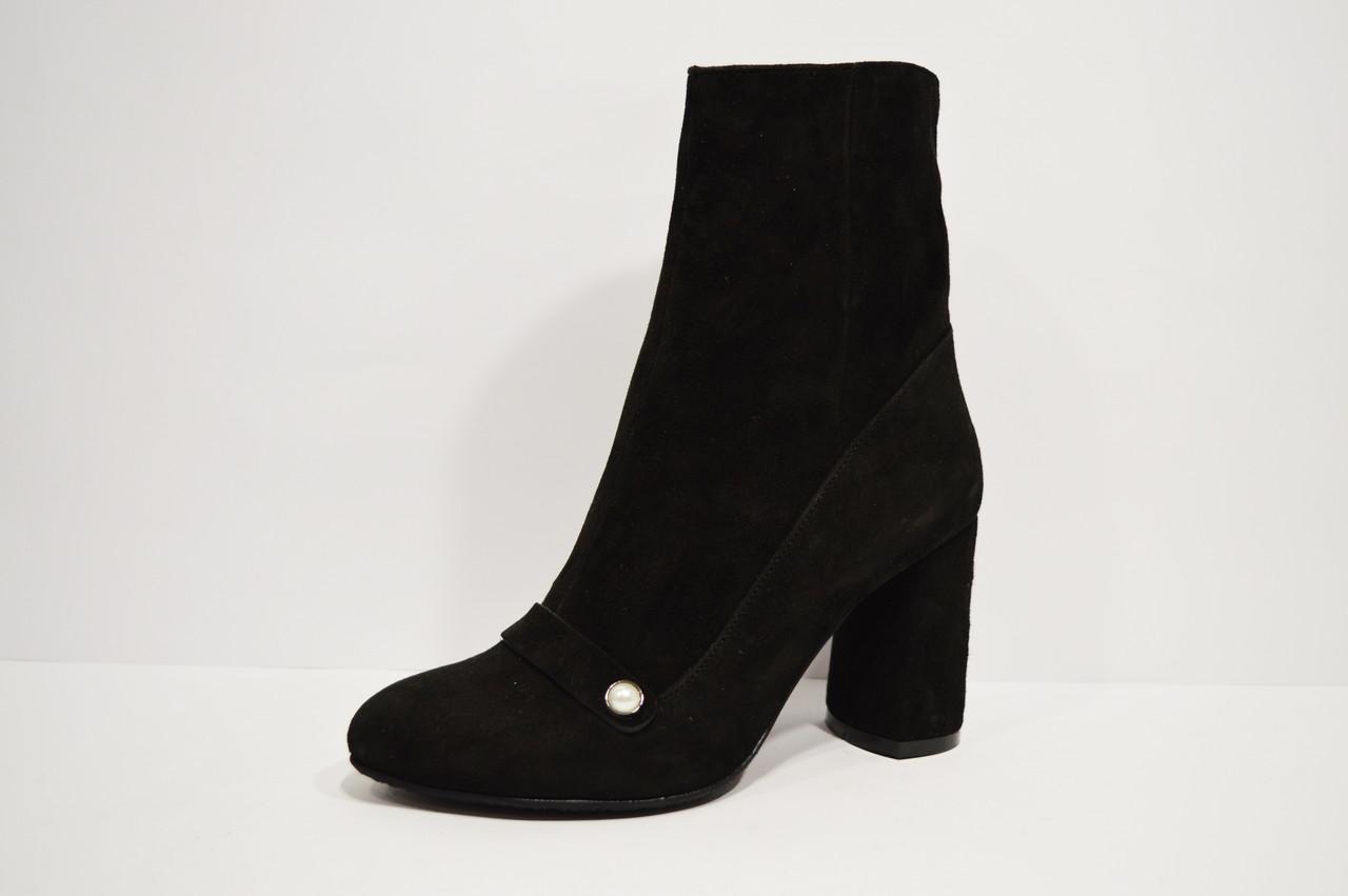 Ботинки замшевые черные Nivelle 8015