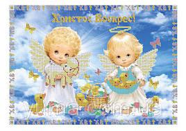 """Схема для вышивки бисером """"Пасхальные ангелочки"""" ЮМА-321"""