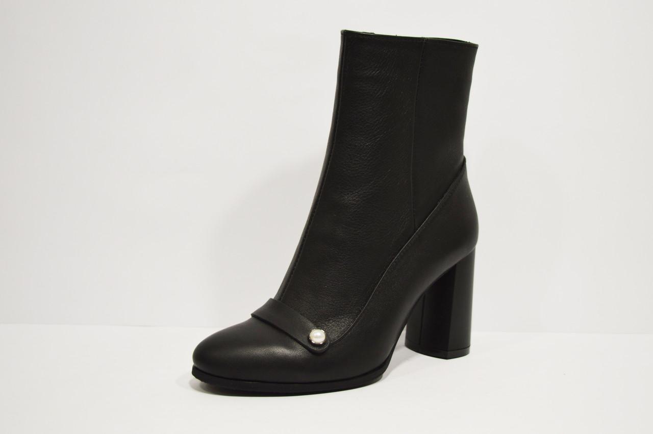 Ботинки кожаные черные Nivelle 8015