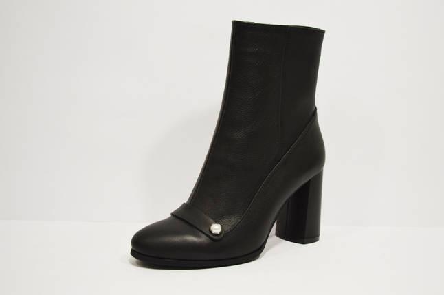 Ботинки кожаные черные Nivelle 8015, фото 2