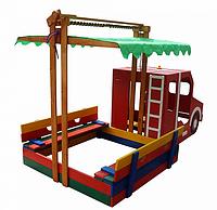 """Песочница для детей """"Пожарная машина"""""""