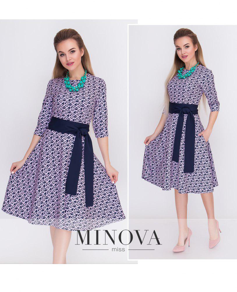 Расклешенное платье под пояс от Minova р.42,44,46