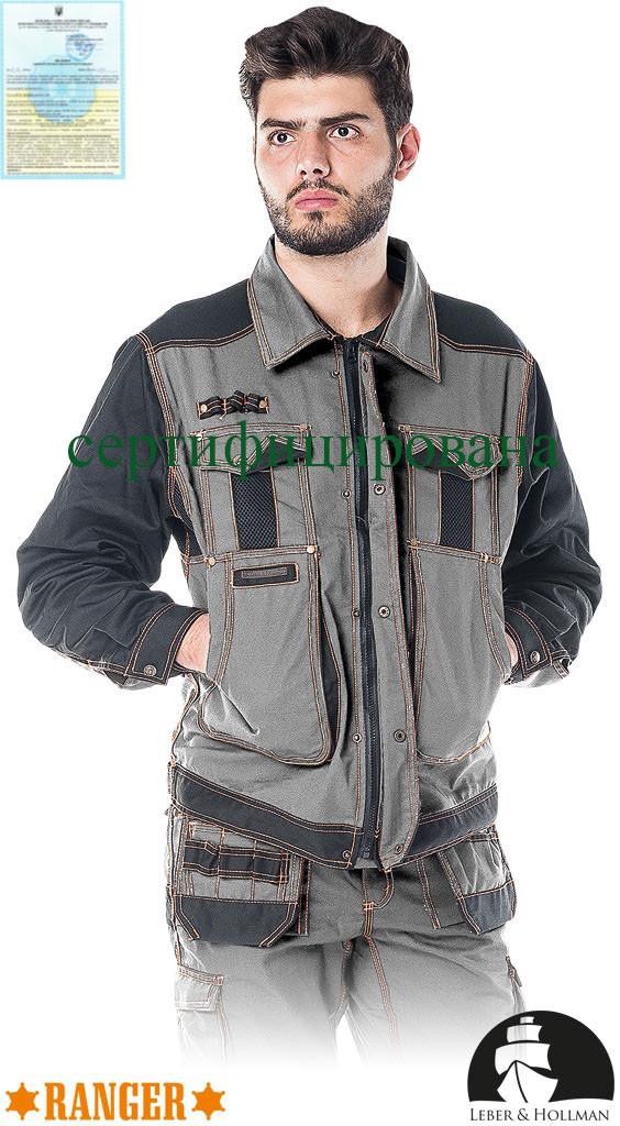 Куртка якісна робоча сіра Lebber&Hollman (спецодяг для важких будівельних робіт) LH-RG-J SBP