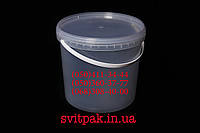 Пластиковое ведро пищевое 5,5 л с пластиковой ручкой и крышкой