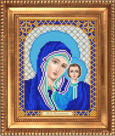"""Схема для вишивки бісером """"Казанська Божа Матір у синьому"""" І-5045"""