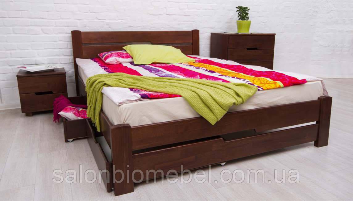 Кровать односпальная Айрис бук 0,9м с 2 ящиками