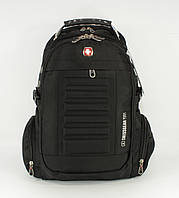 Рюкзак городской SwissGear 8826 черный, выход для  наушников, фото 1