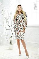 Ботальное платье Эдна с рукавом три четверти 48-56 размера, фото 1
