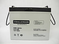 Аккумуляторная батарея Challenger A12-75. Аккумулятор 12 Вольт (AGM)