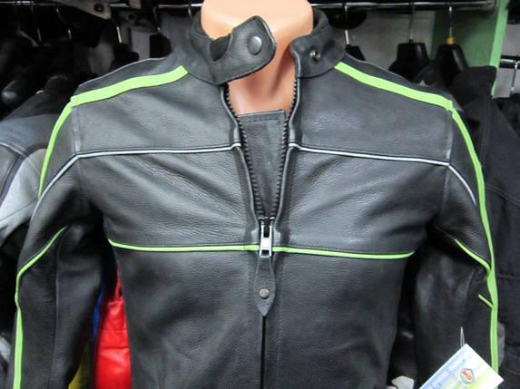 Мотокуртка бу кожа  BLACK JACKET, фото 2