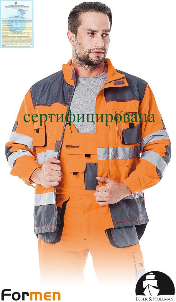 Куртка FORMEN з сигнальними вставками чоловіча робоча Lebber&Hollman Польща (спецодяг робочий) LH-FMNX-J PSB
