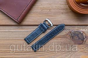 Шкіряний ремінець для годинника Текстурний art.5 колір маренго. Розмір 20