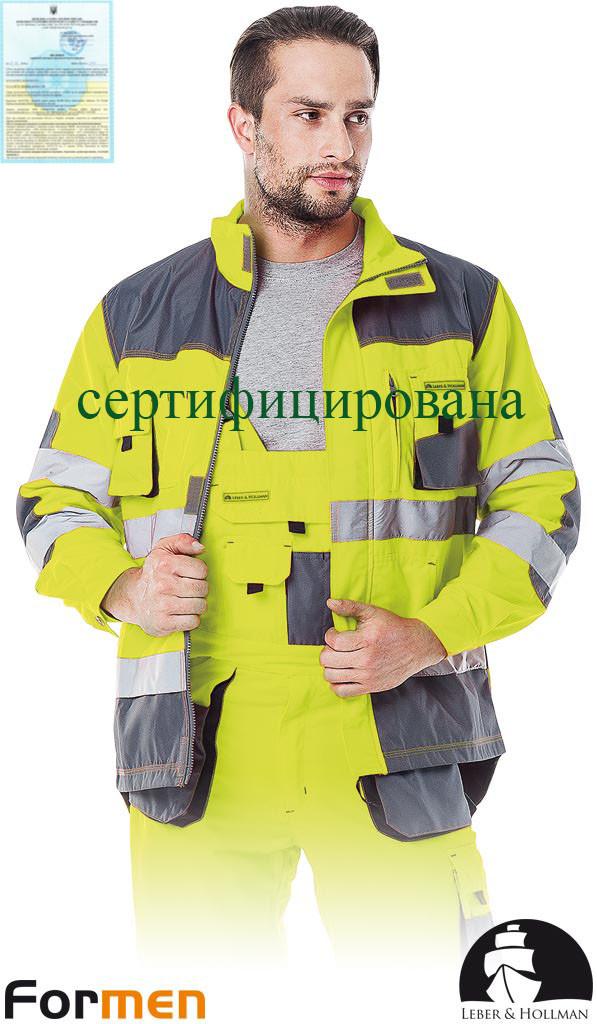 Куртка FORMEN сигнальна робоча чоловіча Lebber&Hollman Польща (сигнальна спецодяг робоча) LH-FMNX-J YSB