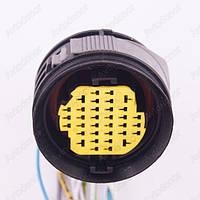 Разъем электрический 34-х контактный (50-50) б/у