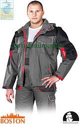Куртка BOSTON рабочая мужская с отстегивающимися рукавами серая Lebber&Hollman (рабочая форма) LH-BS-J SBC