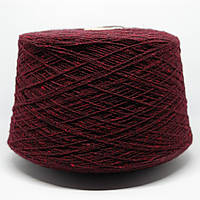 Пряжа Tweed270, бордо с красными капушками (80% меринос, 20% ПА; 270 м/100 г)