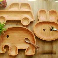 Тарелка из натурального дерева